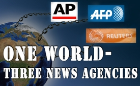 One world – three news agencies