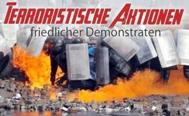 """Azioni terroristiche manifestanti """"pacifici"""""""